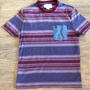 Other - Original Penguin Red/Maroon Striped Tee Shirt